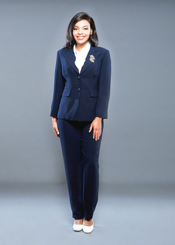 Giovanna 2 Piece Navy Pant Suit Also Available In Black