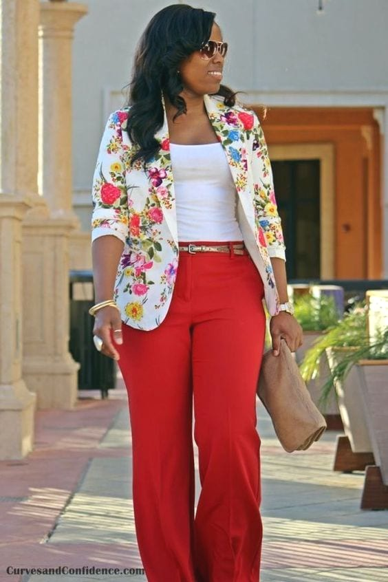 Outfits To Wear With Red Pants–20 Ideas How To Wear Red