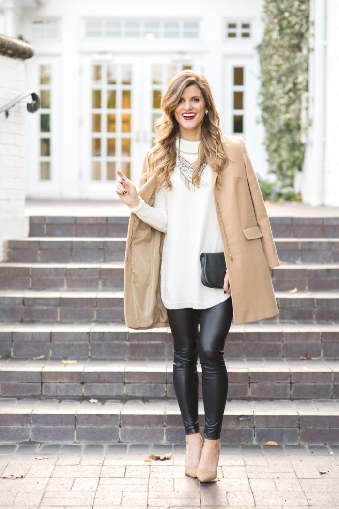 What To Wear With Leather Leggings • Brightontheday