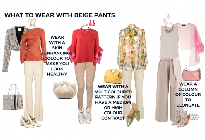 What To Wear With Beige Pants Inside Out Style