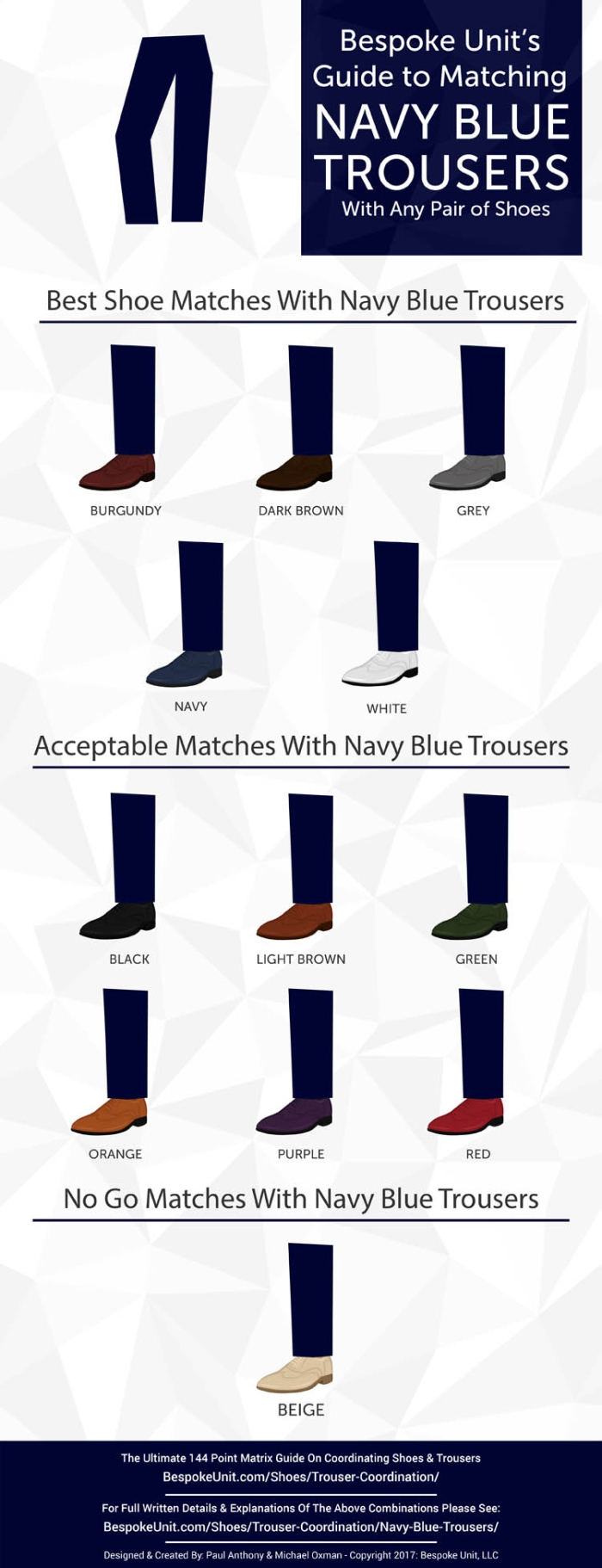 How To Pair Navy Blue Trousers With Different Shoes