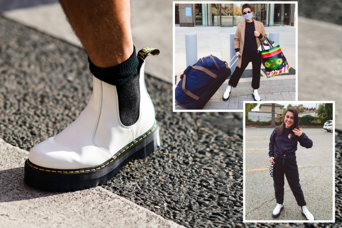 How To Wear Dr Martens White Platform Chelsea Boots