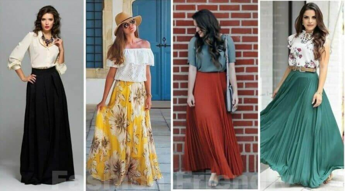 How To Wear Long Skirts Without Looking Frumpy Five Outfit Ideas