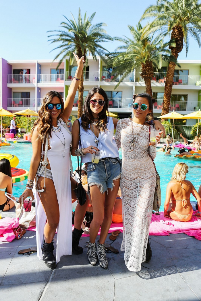 Pool Party Outfits From Coachellas Best Bash