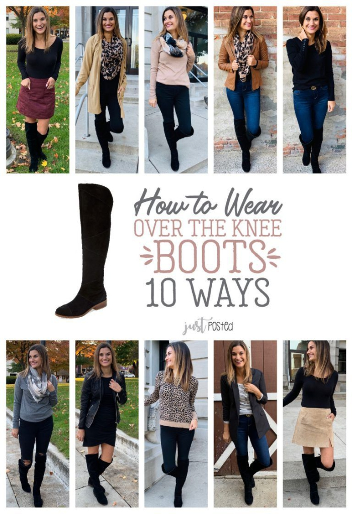Ten Ways To Wear Black Over The Knee Boots Just Posted
