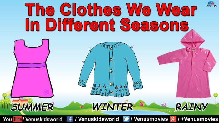 The Clothes We Wear In Different Seasons