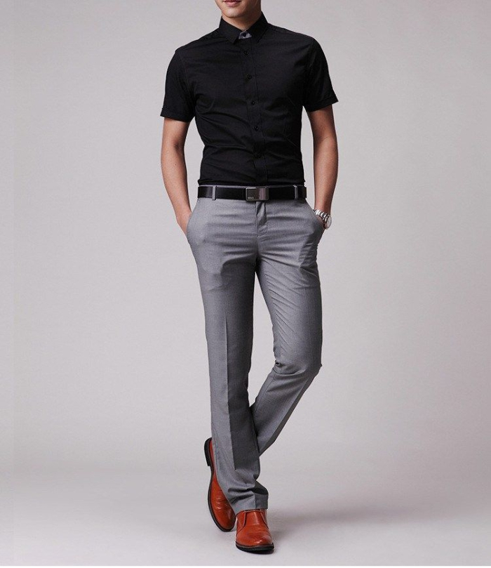 What Color Shirts Go With Grey Pants