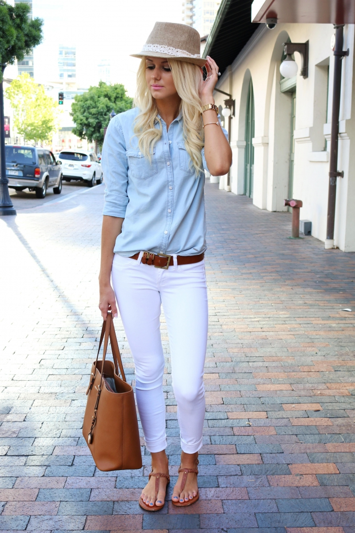 What To Wear With White Jeans Perfect Outfits