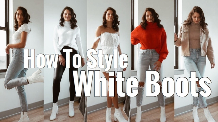 White Boots Outfit Outlet Online Up To Off